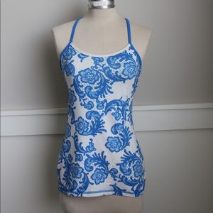 Blue lace Lululemon athletic tank